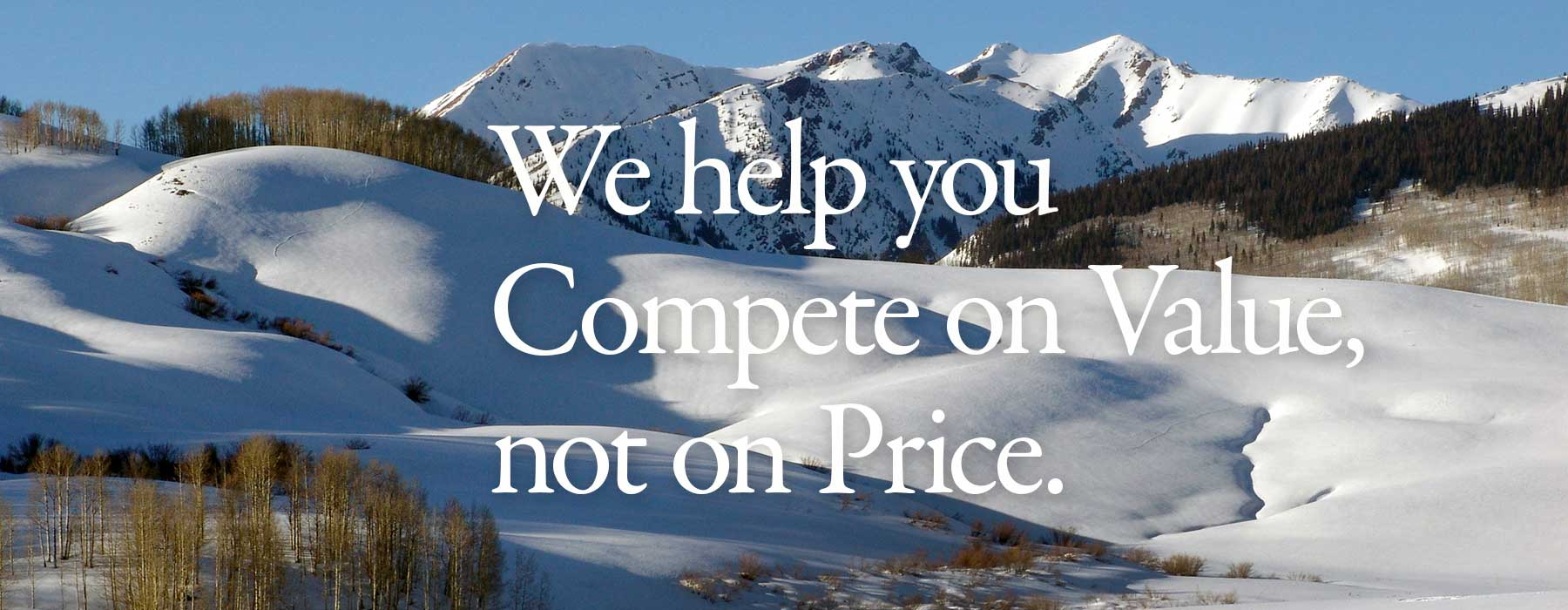 website designers help you compete on value, not on price